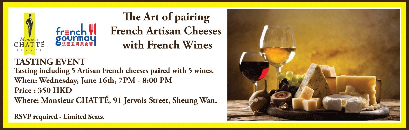 The art of French Artisan Cheeses pairing with French Wines