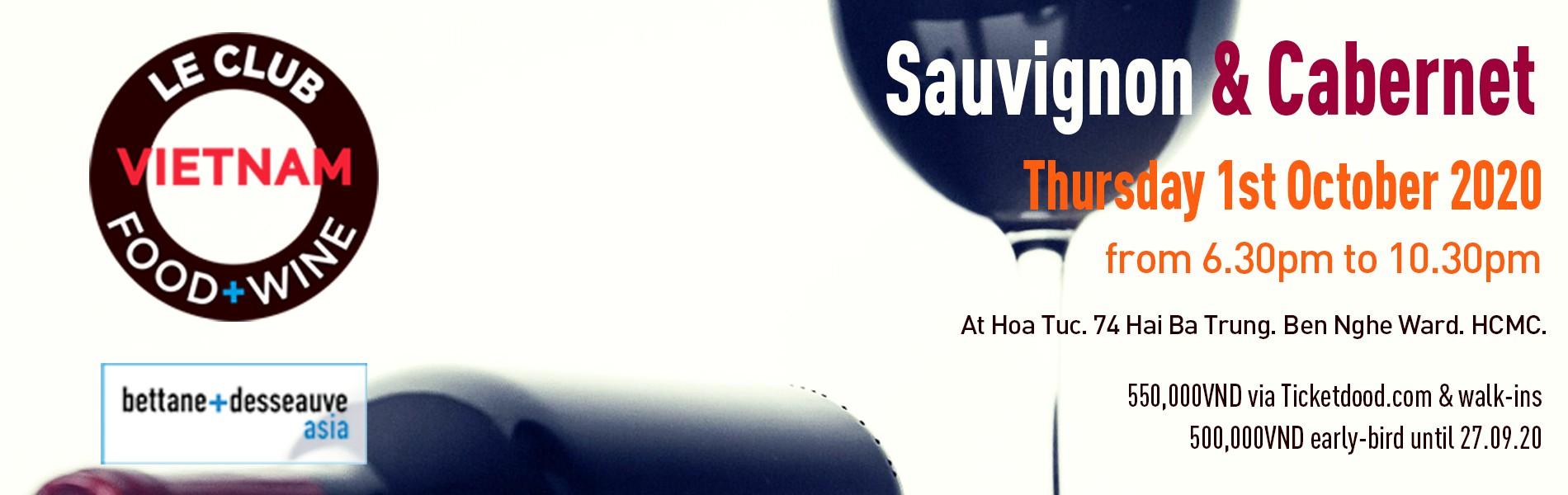 Sauvignon & Cabernet from around the world. Le Club Food & Wine.