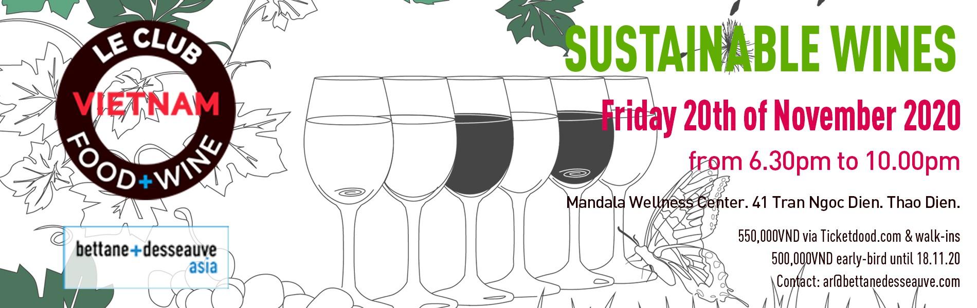 Le Club Food & Wine - Sustainable Wines Pop-Up Market