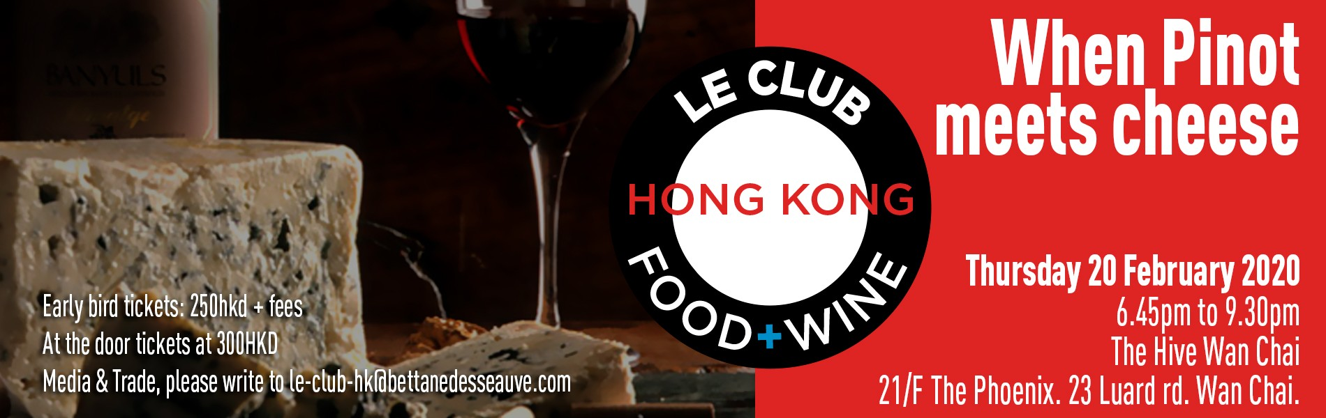 Le Club Food & Wine - When Pinot meets cheese