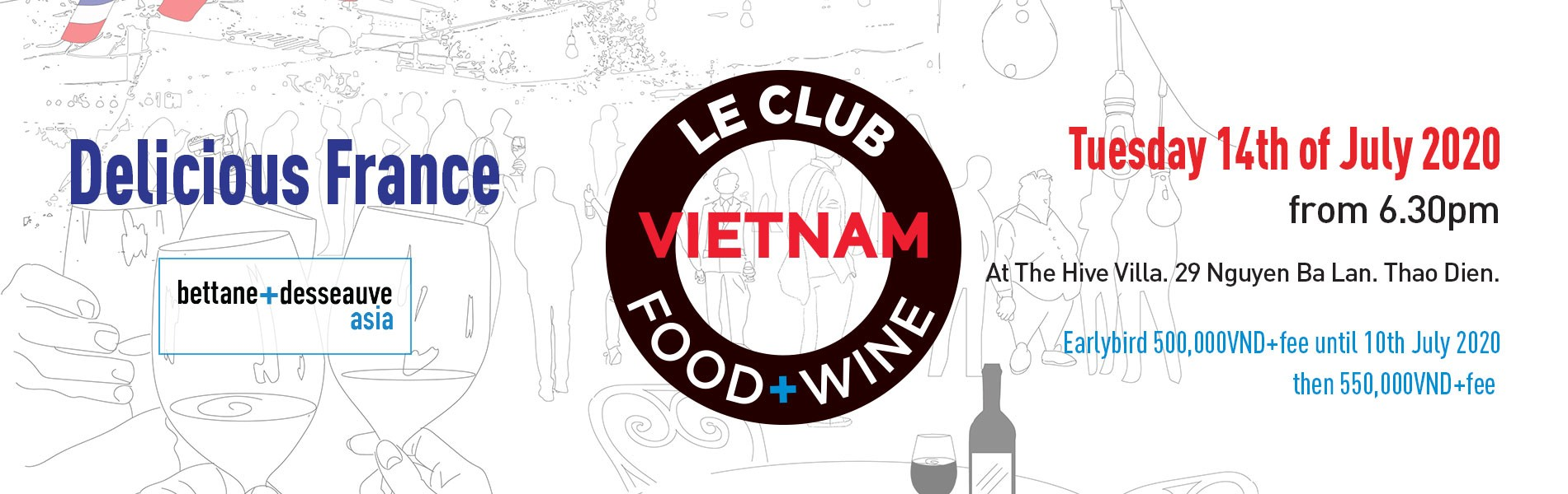 Le Club - Delicious France - Pop Up  - Ho Chi Minh City