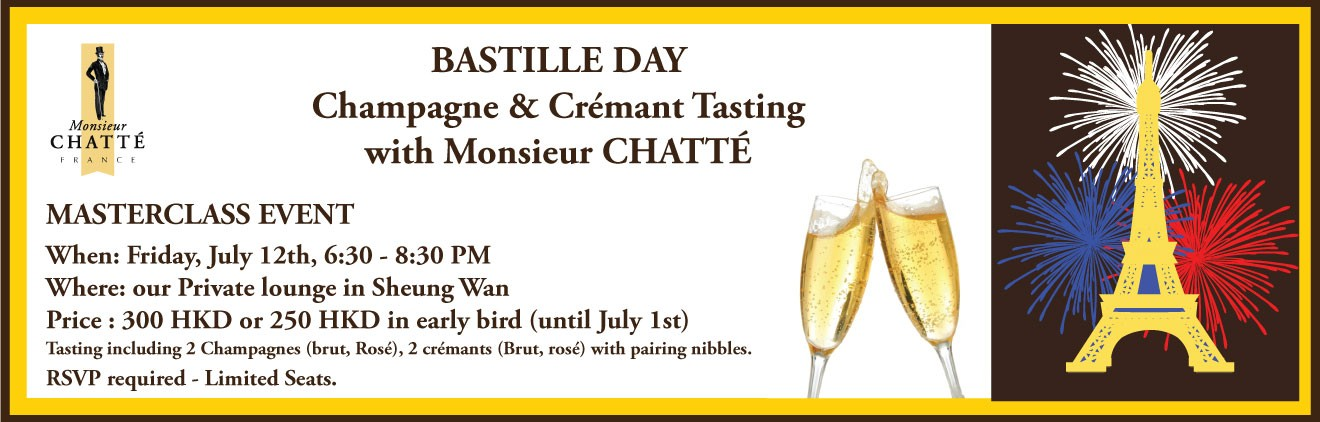 BASTILLE DAY - Champagne & Crémant tasting with Monsieur CHATTÉ
